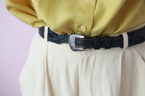 black heart concho leather belt