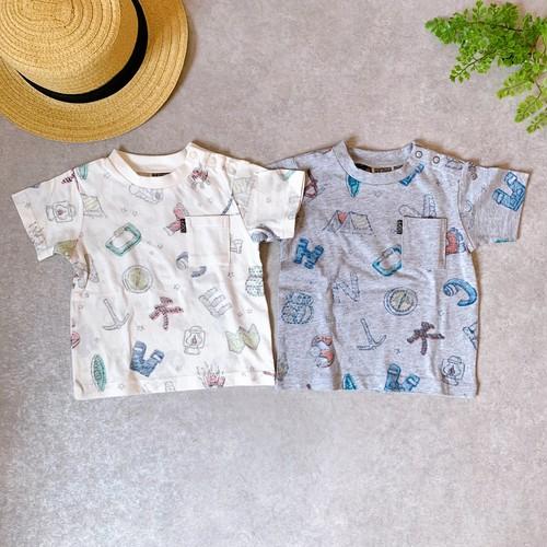 裏プリント総柄Tシャツ R207049