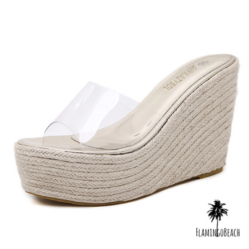 【FlamingoBeach】clear sandals サンダル 44678