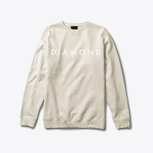 Diamond Supply Co. - FACET TONAL Crewneck CREAM