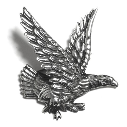 Vintage Sterling Silver Mexican Eagle Pin Brooch
