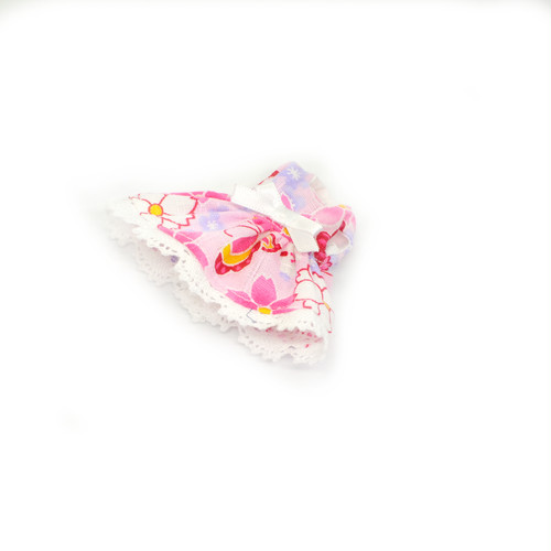 ミキちゃんマキちゃんサイズ ピンクの和柄のワンピース