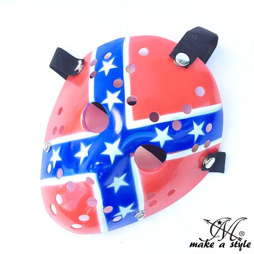 ヒップホップ ダンス マスク お面 ジェイソン JASON 血液 アメリカ国旗 USA 星条旗 フラッグ 692