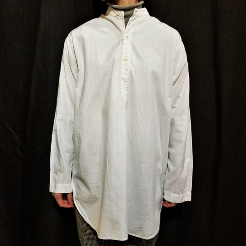 Vintage stand-collar pullover shirt [G-1102]