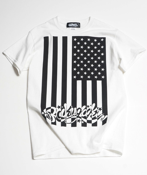 RAKUGAKI STARS & STRIPES T-Shirts White