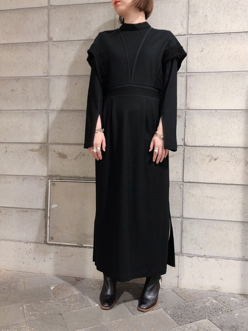 【20AW】EBONY エボニー / Compression wool Dress