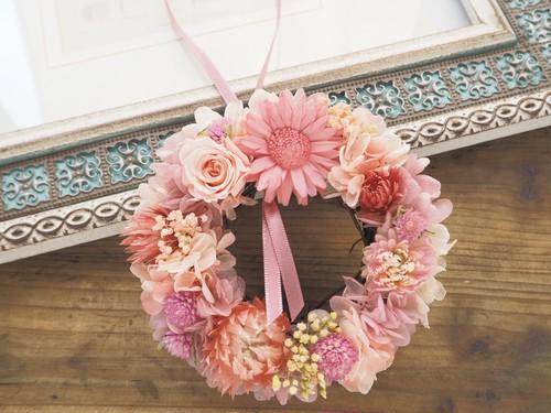 受注制作 Petite Couronne<Shell pink>*幸せ舞い込むリース<ミニ>