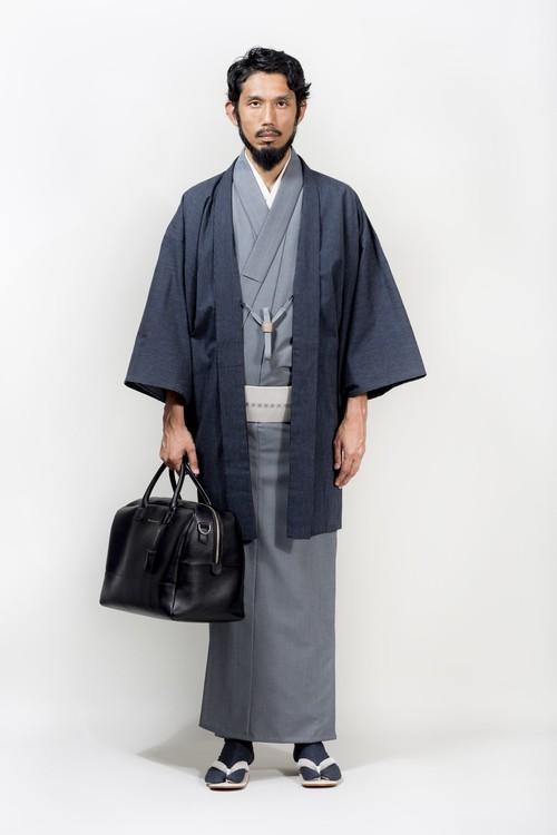 きもの / シルクウール / 万筋 / Gray(With tailoring)
