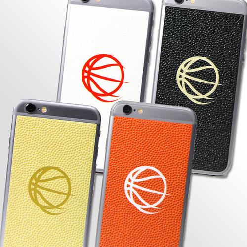 バスケットボールスピリッツ iPhone(6/6S)用背面デザインシール(OnePoint Logo)