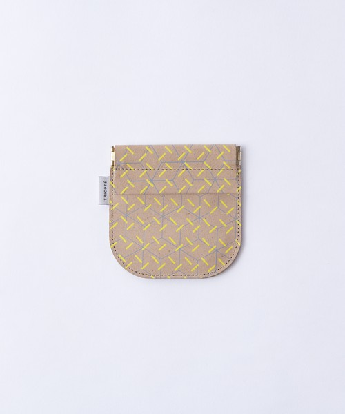 【TRICOTÉ】RECYCLE LEATHE COIN CASE:イエロー