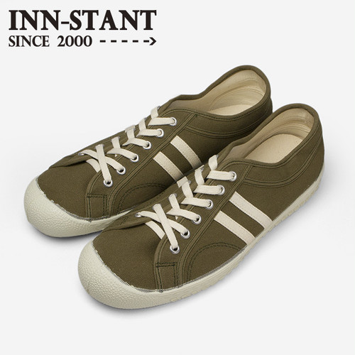 #109 CANVAS SHOES olive/natural (natural sole) INN-STANT インスタント 【消費税込・送料無料】
