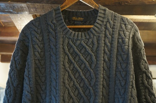 """90's Brooks Brothers cable cotton Sweater """"Made in U.S.A."""""""