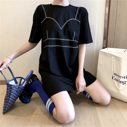 ビキニデザイン半袖Tシャツ