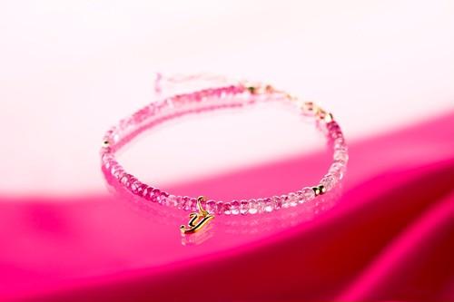★SOLDES★ピンクサファイアのエレガントブレスレット