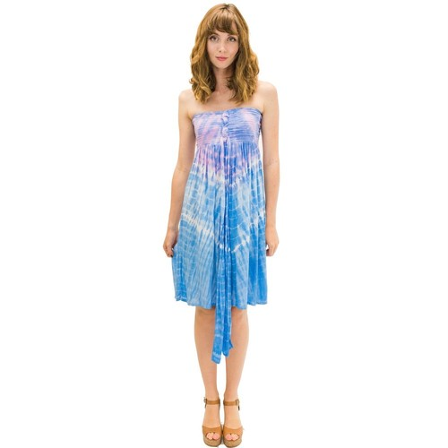 Angels by the sea/ Lani Short Dress In Abstract