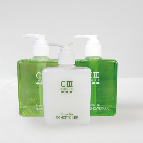 トリプルC 3点セット(シャンプー&コンディショナー&バスシャワージェル)-ペリカン石鹸-