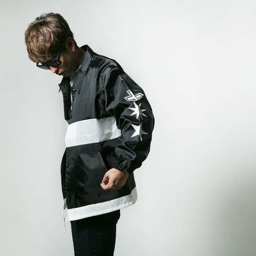 Cross Cut Coach Jacket Black