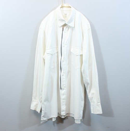 .Y's YOHJI YAMAMOTO LONG SLEEVE ZIP DESIGN SHIRT MADE IN JAPAN/ワイズヨウジヤマモトジップデザイン長袖シャツ 2000000031644