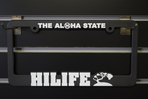 Hi Life Licence plate frames