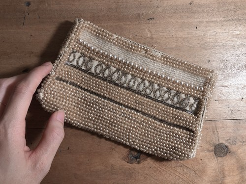 1940's~1950's Beads purse / Made in Japan