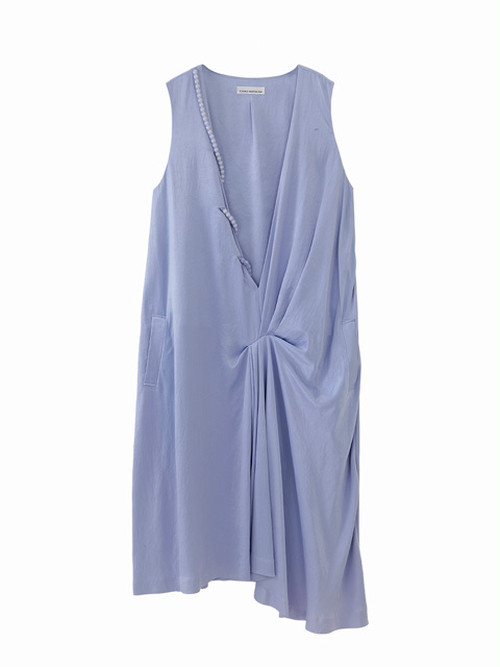 Peal drape dress  / blue purple / S15DR05
