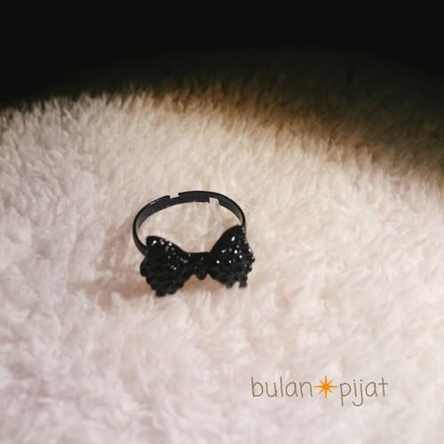 リボンリング リボン 指輪 フリーサイズ