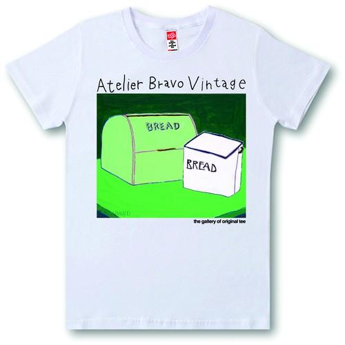 ATBR-V-SST-027 Tシャツ パン入れの箱とブレッド缶
