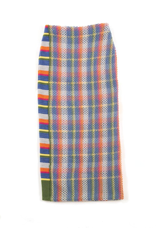 EMB STRIPES SKIRT