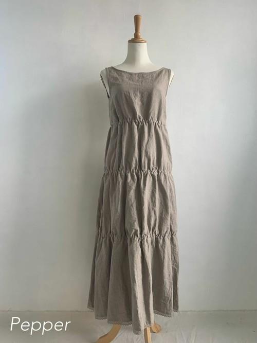 Bilitis dix-sept ans   Linen Tiered Long Dress