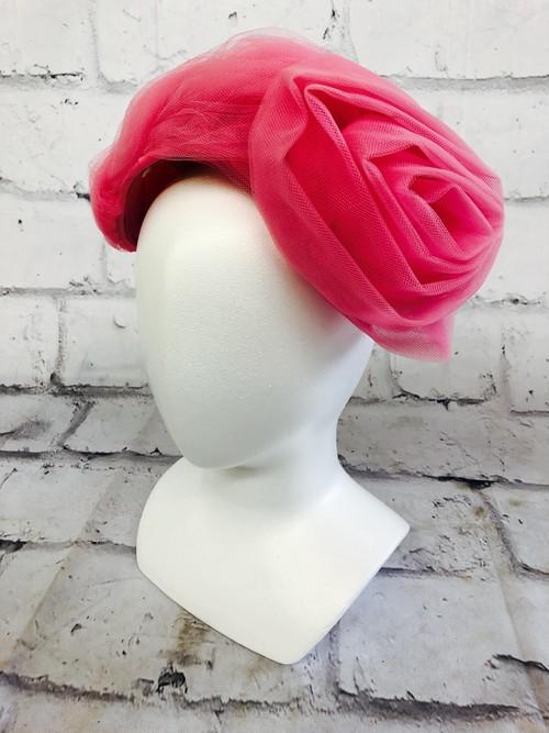 品番1232 ヘッドドレス Lonette Originals 帽子 ピンク ヘアアクセ レディース ヴィンテージ
