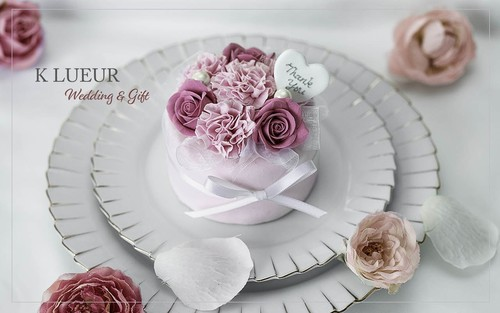 【母の日】クレイカーネーションとローズのクレイケーキ