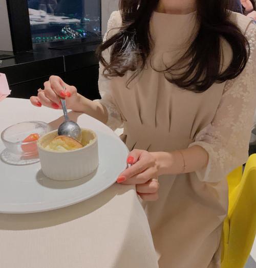 2色 ジャンパースカート ロング ハイウエスト リボン フレア きれいめ フェミニン 大人可愛い 韓国 オルチャン ファッション