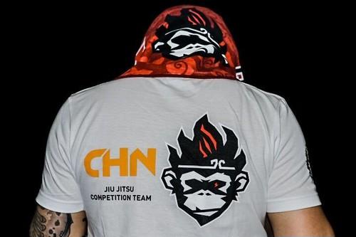 柔術狂人 X Fighting Monkyky Tシャツ ナショナルシリーズ CHN(白)