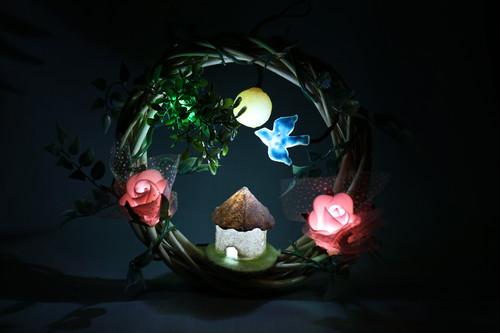 箱庭 リース LEDライト 田園の夜
