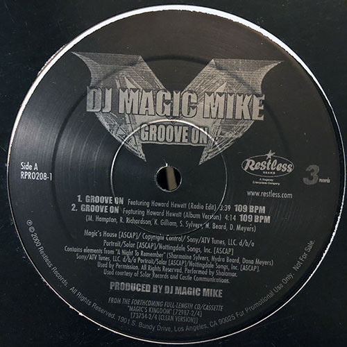 DJ Magic Mike - Groove On (12inch) ウェッサイ [r&b/soul] 試聴 fps8514-25