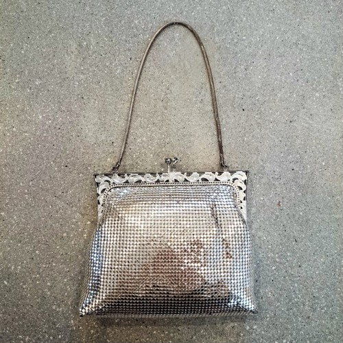 Made in W.germany metal mesh mini bag[B-60]