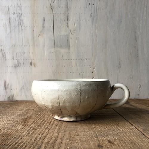 信楽焼    古谷製陶所    スープカップ(たて鉄線)