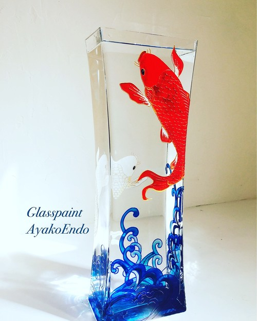【登り紅白鯉】5月縁起物 祝!男の子誕生 現代版こいのぼり|出産祝い・端午の節句・こどもの日プレゼント