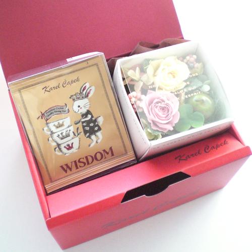 コピー:紅茶とお花のギフトセット(ウィズダム)