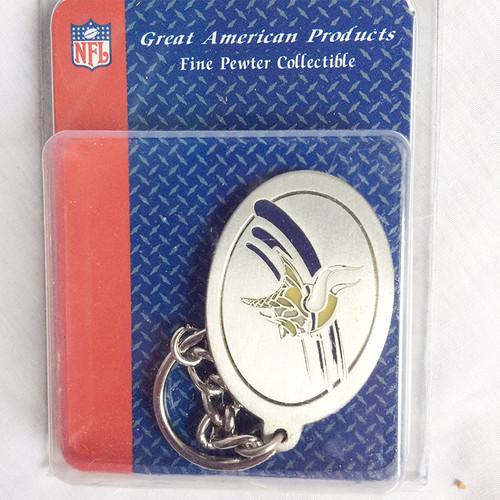 NFL ミネソタ キングス MINNESOTA VIKINGS メタル キーホルダー キーチェーン タグ 1378