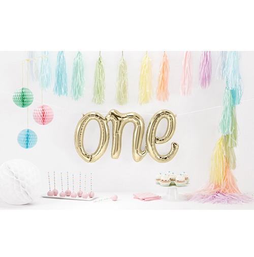 【即納商品】再入荷!!誕生日飾り  ONE 1歳 風船 お誕生日 バースデー バルーン  お誕生日会 1カ月記念 お誕生日飾り バースデーデコレーション  バースデーパーティー ウォールデコ 《ホワイトゴールド》