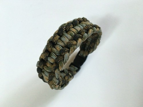 パラコードブレスレット Rigid Genoese Paracord Buckle Bracelet 0702