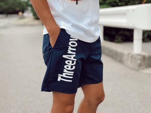 【SUMMER SALE】ThreeArrows logo Board Shorts(navy)