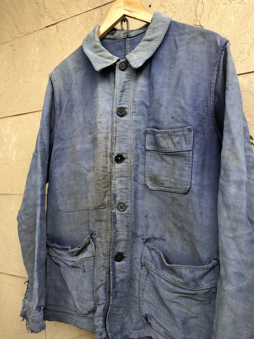 〜1950s French blue moleskin work jacket