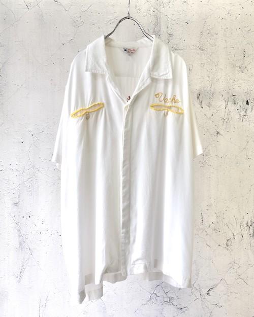 white bowling shirt
