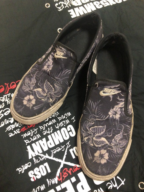 2014〜15's NIKE organic plant slip-on sneaker