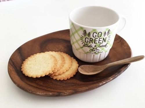 落としても割れない おやつマグカップ・グリーン