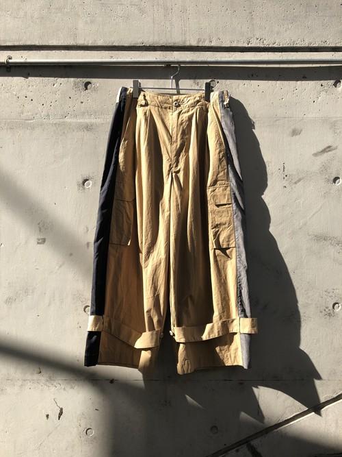 『my beautiful landlet』ripstop wide cargo pants/BEIGE SIZE 0