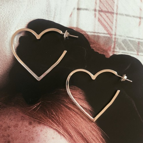 MEME original silver Heart Pierce