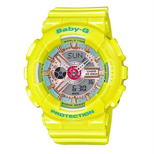 カシオ ベビーG BABY-G クオーツ レディース 腕時計 BA-110CA-9A イエロー イエロー